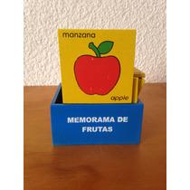 Juego Didáctico De Madera Memorama De Frutas