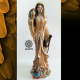 Santa Muerte Encarnada 53cm - Mitad Mujer (la Niña Blanca)