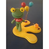 Sapo Pepe -adorno De Tortas- Porcelana Fría