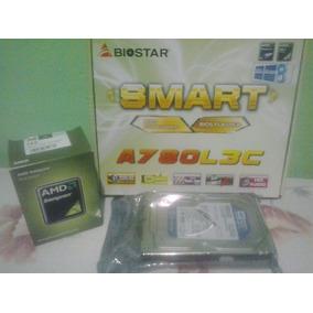 Combo Tarjeta Madre Biostar +procesador Amd +disco Duro 500g