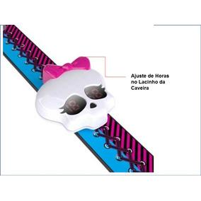 Relógio Monster High Caveira C/luz Feminino Criança Digital