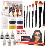 Combo Maquillaje Artístico Pincel Body Painting Heburn