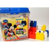 Bloques De Encastre Mickey Mouse, 50 Piezas