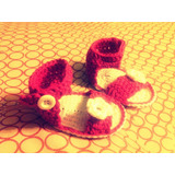 Escarpines Sandalias Crochet Regalo Bebes Babyshower Suvenir