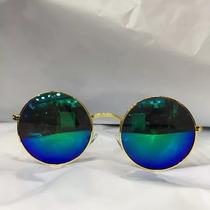 8 Oculos De Solredondo Espelhado Feminina Unissex Protecaouv