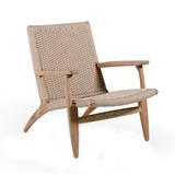 Lounge Chair Carl Hansen Rattan Madera Diseño