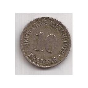 Alemania Moneda De 10 Pfennig Año 1912 A !!!
