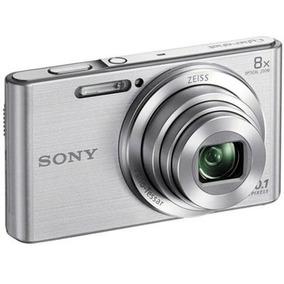 Camera Digital Sony Dsc W830 Prata 20.1mp 8x Zoom Optico