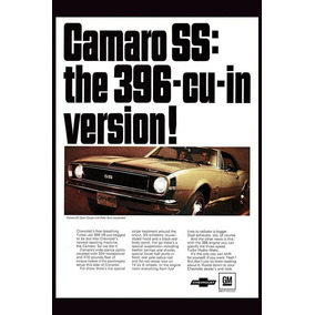 Carteles Antiguos Chapa 60x40cm Chevrolet Camaro Ss Au-158