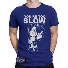 Camisa, Camiseta Sonic Mega Drive Hedgehog Sega Games