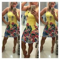 Vestido Feminino Lindo Curto Com Bojo Varias Cores!!!