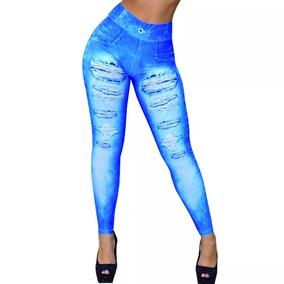 Calça Legging Jeans Coz Alto Foto Original