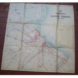 Mapa Alrededores De Capital Federal 1939 Desplegable