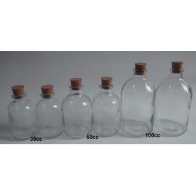 Envases Vial De Vidrio De 100cc C/corcho P/difusor Aromatico