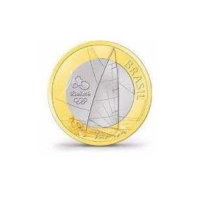Moeda R$1 Olimpíadas Rio 2016-vela