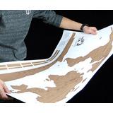 Mapa Mundi Raspadinha- Raspe Os Lugares Visitados 88 X 52 Cm