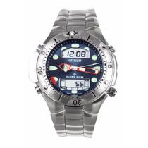 Relógio Citizen Promaster Jp 1060 Aço Inox Mergulho Azul