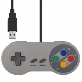 Controle Super Nintendo Usb Pc Snes Joystick