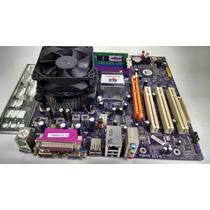 Placa Mãe Ecs P4m800pro-m + Pentium 4 + 1gb Ddr1 + Cooler