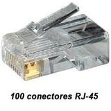100 Unidades Conector Rj45 Cabo Rede Lan Plug Top