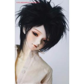 Bjd Black Wig 9-10inch (peruca Preta 24cm)
