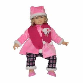 Boneca Com Touca E Cachicol Anabelle Inverno