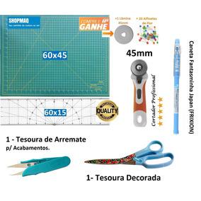 Kit Base De Corte 60 +régua 60 +cortador +tesoura +caneta+ar