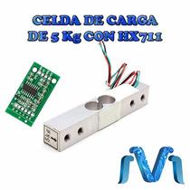 Celda De Carga Sensor De Peso 5kg Incluye Hx711