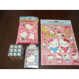 Hello Kitty Diario Intimo + Naipes + Cubo + Stickers Gabym