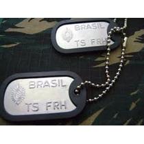 Ofertaço Dog Tag Exército Placa Identificação Militar Colar
