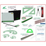 Kit Completo Tablero Dozent Plantec Dibujo Tecnico 24 Artic.