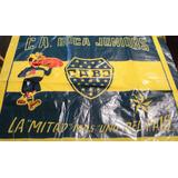 * Futbol Antigua Bandera Plastica De Boca 56x42