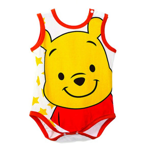 Body Bebê Sem Manga Desenho Animado Ursinho Pooh