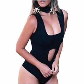 Body Blusas Femininas Gola Alta Decote Decotado Top 2017