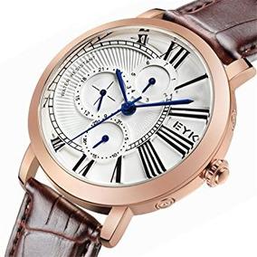 Los Hombres De Eyki Reloj De Cuarzo De Oro Rosa Reloj Depo