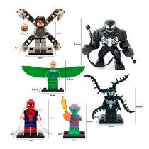 Spiderman Set 6 Figuras Comp. Lego Venom Dr. Octopus Vulture