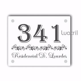 Placa De Fachada Personalizada Acrílico Residencia Empresa