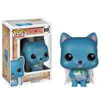 Fairy Tail Boneco Happy Funko Pop De Vinil 7,5cms