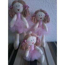 Bonecas Bailarinas De Pano Artesanal Decoração P M G -trio