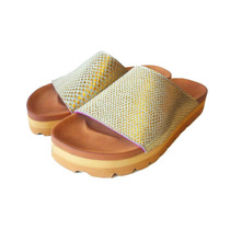 Sandalias Mujer Cuero Legítimo Doradas Diseño Exclusivo