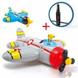 Inflable Intex Avion Con Pistola + Inflador Flotador Niños