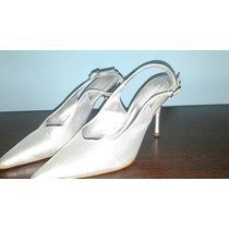 Hermosos Zapatos De Fiesta Plateados N°36!!!