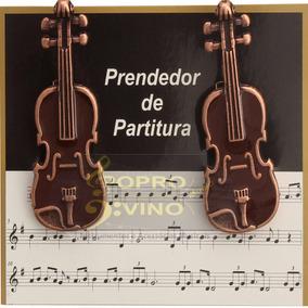 Prendedor Partitura Hinário Paganini Clipet Violino Par