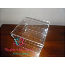 Caja En Acrilico 20x20x15 Cm Para 16 Rosas Regalo Recuerdo