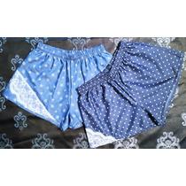 Short Playero Jeans Y Encaje Talla Xl Xxl