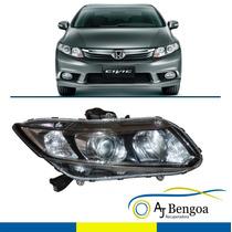 Farol Honda New Civic 2013 2014 2015 201 Direito Original