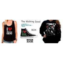 Box The Walking Dead Feminino Kit Tênis + Moletom + Camiseta