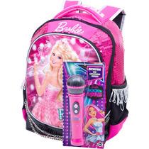 Mochila Escolar Infantil Barbie Menina Rock