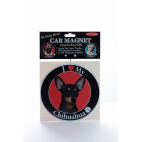 Iman Para Refri Circular O Huellitas Chihuahua Negro - Unico