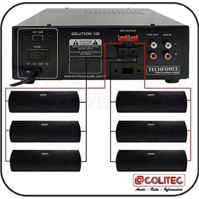 Kit Sonorizador P/ Ambiente Amplificador De Som + 8 Caixas